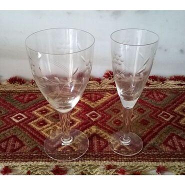 2 ποτήρια παλαιά γυάλινα