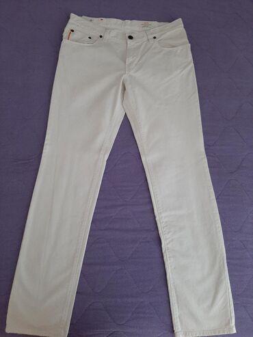 Original boss pantalone cena - Srbija: BOSS muške pantalone,beli dzins,original,nove,br.W35 L34