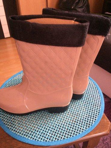 Ženska obuća | Jagodina: Nove gumene cizme,sa krznom koje se skida 37 br