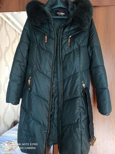 длинное платье темно зеленого в Кыргызстан: Куртка зима очень теплаяпоможет в зимнюю стужуразмер 48длинна