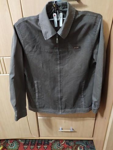 Мужская куртка, материал джинса, размер 46-48, в идеальном состоянии