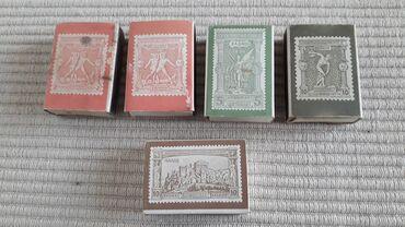 Τέχνη και Συλλογές - Ελλαδα: 5 σπιρτόκουτα με γραμματόσημα των Ολυμπιακών Αγώνων  Τα 2 κουτάκια έχο