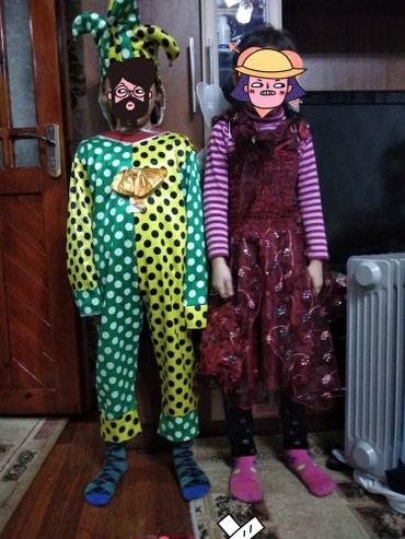 Новогодние детские платья бардовый в Ош