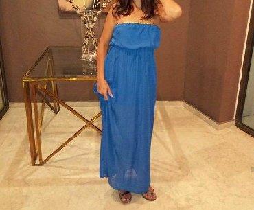 Duga haljina od žoržeta sa postavom, nova samo jednom nosena na moru