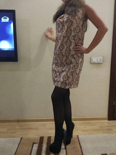Шикарное платье с натуральным мехом в Бишкек