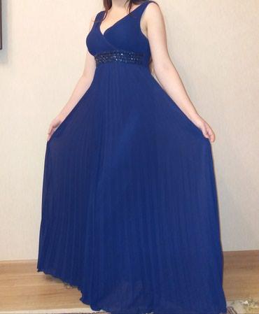 вечернее платье в пол синего цвета в Кыргызстан: Продам или сдам в прокат вечернее платье плиссе в греческом стиле