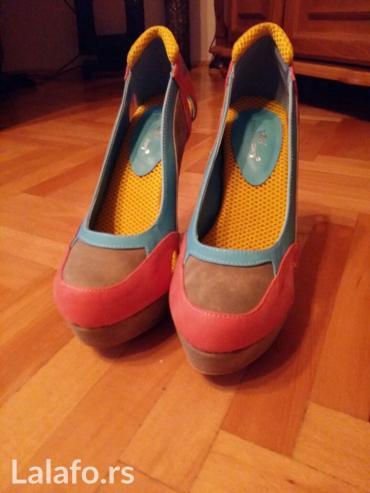 Prelepe sarene cipele,platforma,12 cm,nikad nosene,velicina 40 - Nis