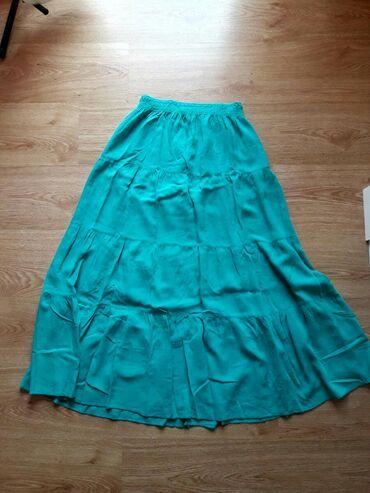 Ženska odeća | Sremska Mitrovica: Zelena dugacka suknja M/L velicina nova