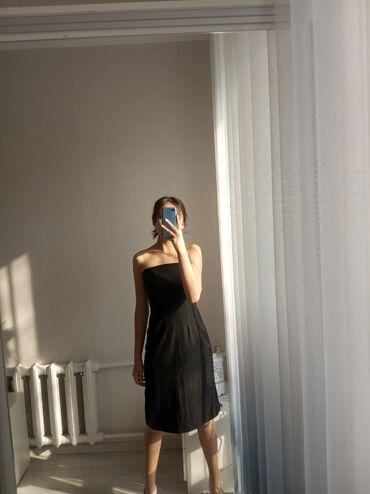 Продаю платье  Не новое  Черного цвета, без бретелек Цена 400 сом