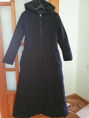 платье ангора софт батал в Кыргызстан: Брендовый очень длинный, тёплый пальто-платье с капюшоном, подходит