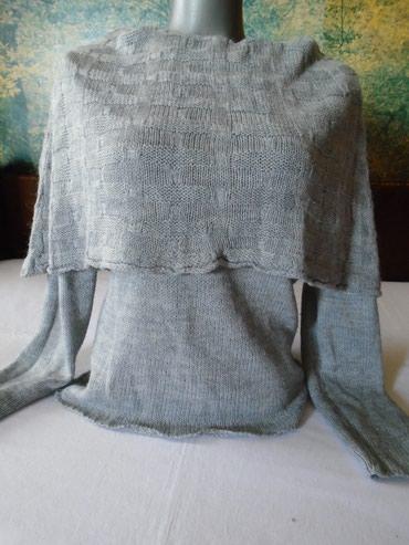 Džemper sa velikom neobičnom kragnom od mekane angora vunice, nošen. - Belgrade