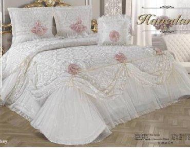 смена-постельного-белья в Кыргызстан: Свадебное покрывало для кроватиШикарно смотрится ТурецкоеКачество