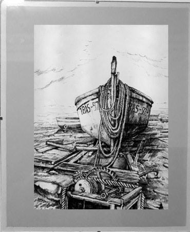 Umetničke slike ,crteži perom i akvareli dimenzija 42x35 cm , - Arandjelovac