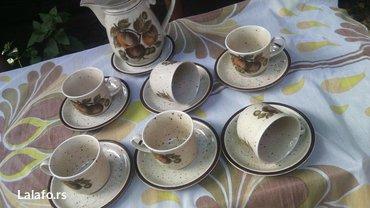 Prelep set šoljice, posuda za mlekooo (može biti i čajnik)  - Cuprija - slika 7