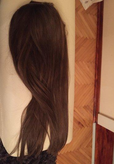 Prirodna kosa na klipse, duzina 60cm, 150gr. - Vranje