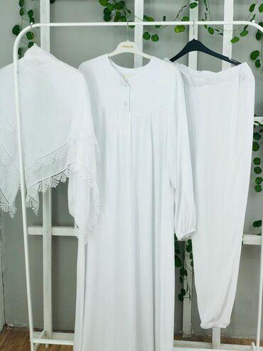 shapka s cvetami в Кыргызстан: Платья для Хаджа и для намаза.Тройка штаны платье и платок.Цена