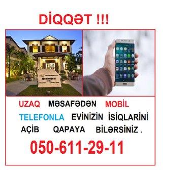 Bakı şəhərində MOBİL TELEFONLA UZAQ MƏSAFƏDDƏN İDARƏ SİSTEMİ. İşıq
