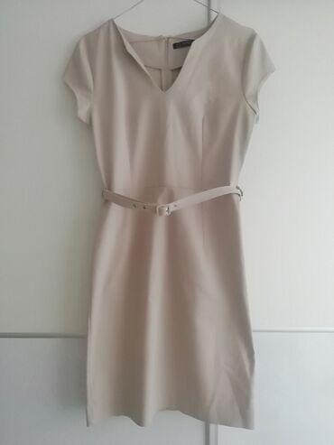 Nova haljina,bež boje,veličina 38,ima elastina. Nikada nije nošena