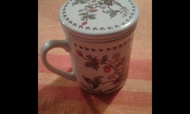 Čajnici | Srbija: Italijanska originalna keramicka solja sa cajnikomunikatna solja