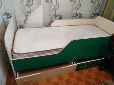 Кровать детская с матрасом, с двумя выдвижными ящиками в Беловодское