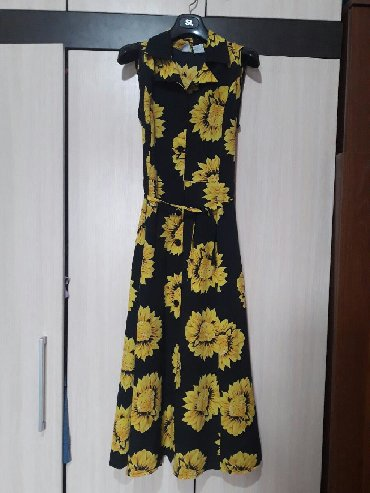 сарафан шифон в Кыргызстан: Размер 46-50 летнее платье сарафан шифон фирменный с поясом