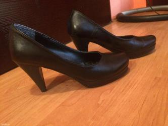 Cipele od prirodne koze, velicina 40. Boja crna. Ocuvane. - Kraljevo