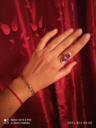 Браслеты - Б/у - Бишкек: Золотой браслет полновесный 585 пробы чистый вес 9,6 гр., размер 19