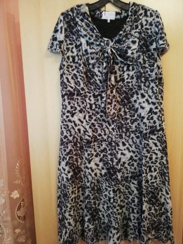 Haljine - Lajkovac: Prelepa haljina u animal printu u 54 broju Jednom nosena
