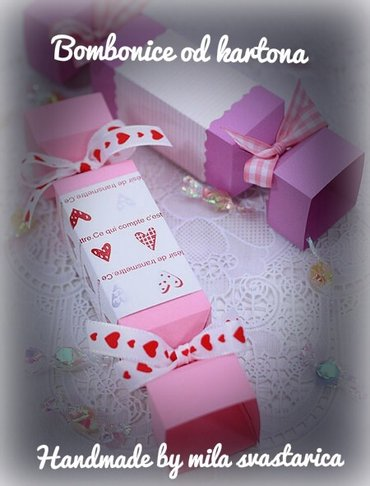 Kutijice od kartona, bombonice, korpiceidealne za dekoraciju na vasim