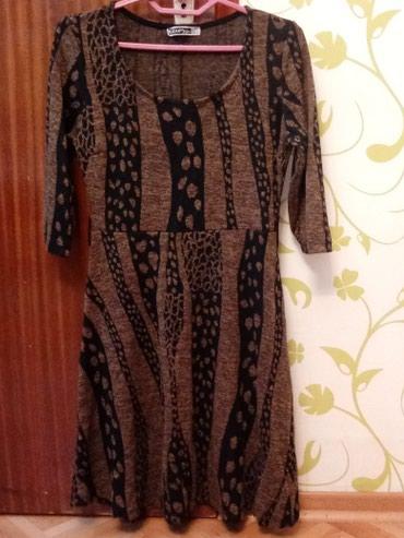 Haljine - Vranje: Nova crno-braon haljina od viskoze i elastina, nenosena