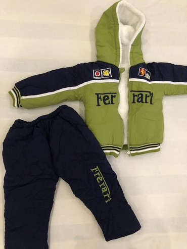 детская клетчатая рубашка в Кыргызстан: Новый детский теплый костюм(детская куртка+детские теплые штаны) на