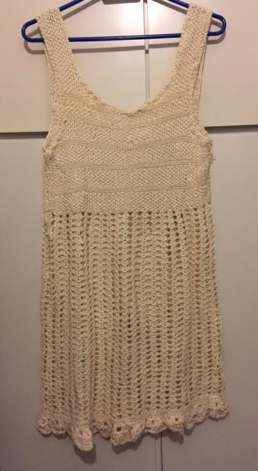 Πλεκτό μίνι φόρεμα από βαμβακερό νήμα Νο s σε Agriníou