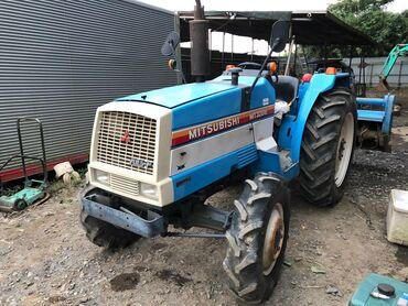 Японский мини трактор Митсубиси! Дизельный трактор с водяным