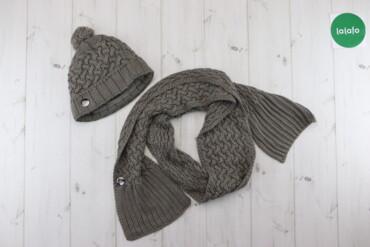 Жіноча в`язана шапка з помпоном та шарф Adidas    Довжина шарфа: 180 с