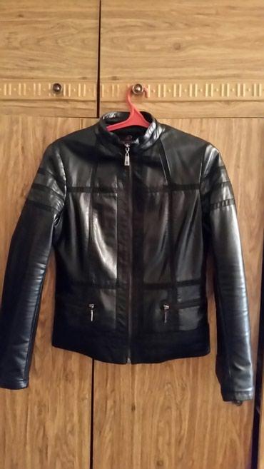 Куртка кожаная оригинальный стиль.Размер 2XL,цвет черный в Бишкек