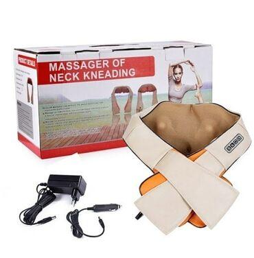 Массажер для шеи, плеч и спины удобно использовать во время домашнего