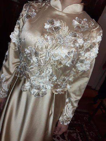 льняные вязаные платья в Кыргызстан: Продаю платье по 100$ один раз одевала на свадьбу