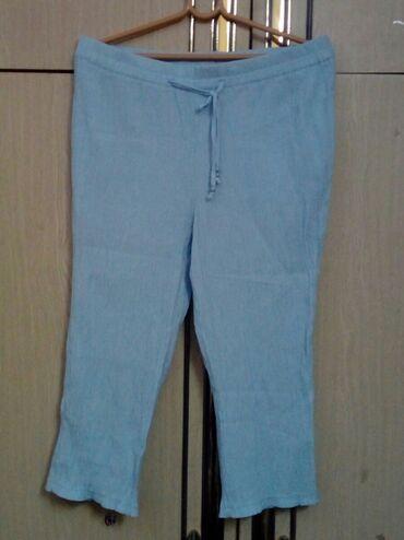 Ženske pantalone - Srbija: Nove 3/4 bermudice od lana XL