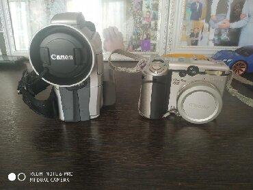 Фото видеокамера - Кыргызстан: Фотоаппарат и видеокамера Canon В комплекте всё всё что на фото кабель