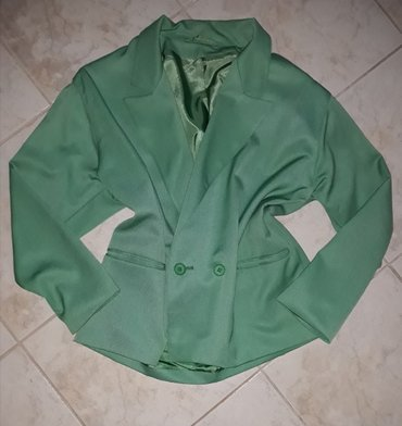 Zeleni sako kao nov. Obucen par puta. Odgovara velicini xl/xxl - Kragujevac
