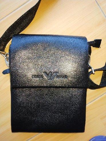 сумка-как в Кыргызстан: Кожаная барсетка Giorgio ArmaniМатериал: натуральная кожаРазмер