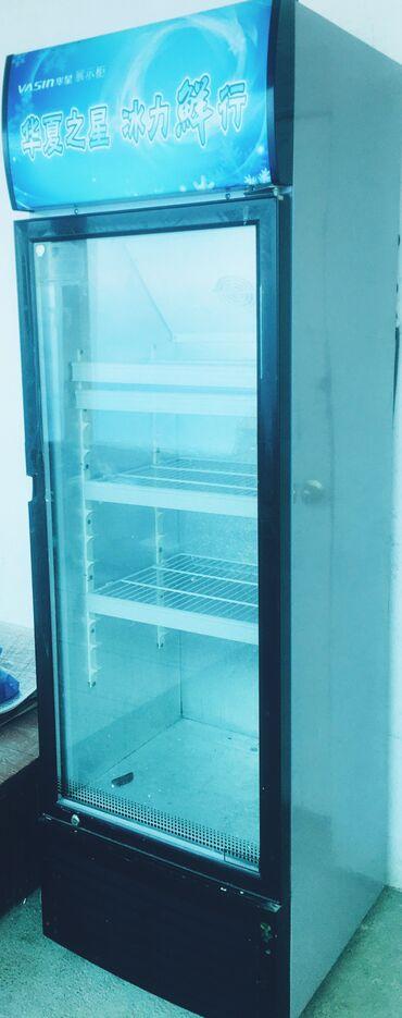 Техника для кухни - Кызыл-Кия: Б/у Холодильник-витрина   Серый холодильник