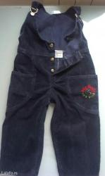 Decje pantalonice na tregere, vel. 4, za decaka, teget na - Beograd