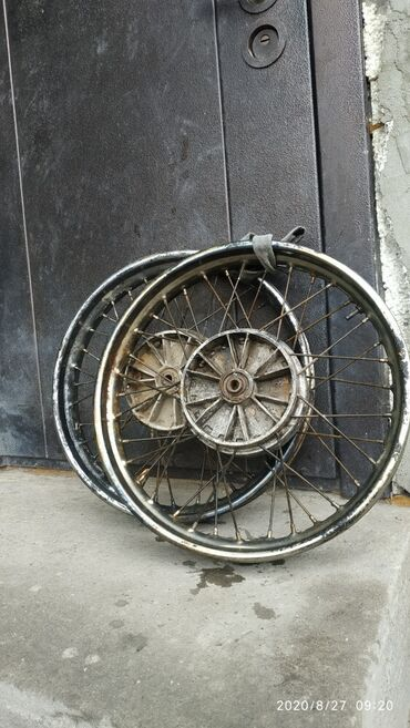 Мотоциклы и мопеды - Кок-Ой: Диски ява, с очень маленьким пробегом, диски ровные, цена 2500 за