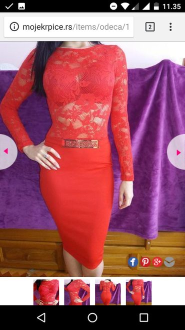 Nova blondy haljina,crvene boje.Veličina Uni do 67kg realno - Nis