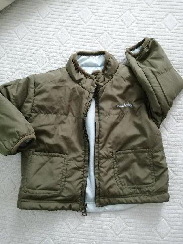 Dečije jakne i kaputi | Bor: Jaknica sa dva lica za bebe do 12meseci. Kao nova