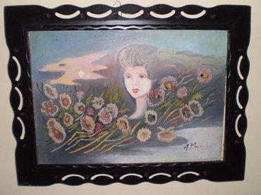 Πίνακας της ζωγράφου Α. Μουρατίδου, ελαιογραφία, 88Χ67 ΜΕ την κορνίζα