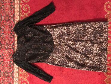 вечернее длинное платье черного цвета в Кыргызстан: Продаю платье до колена в отличном состоянии 42-44размера камера не