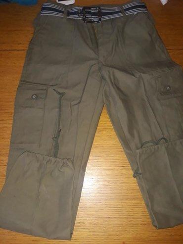 Vojnicke pantalone - Srbija: Pantalone vojnicke za decake 11do12 god nove nenosene imaju dzepove sa