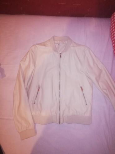 Nova Stradivarius kozna jakna, svetlo bez boje. Sa etiketom. Velicina - Indija